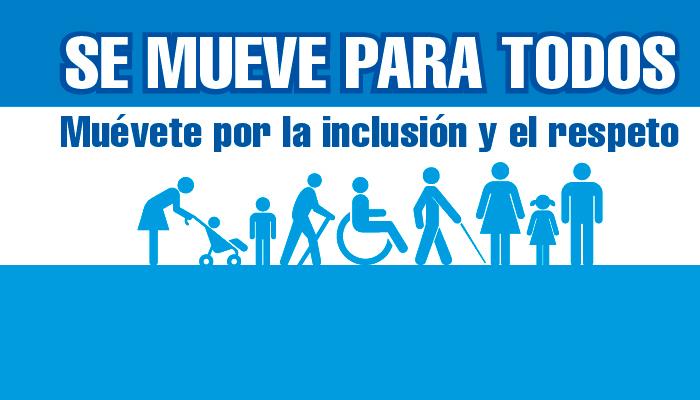 Imagen con texto y iconos de personas con discapacidad