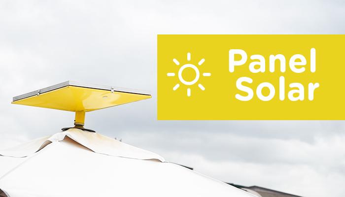 panel solar en estación pradera