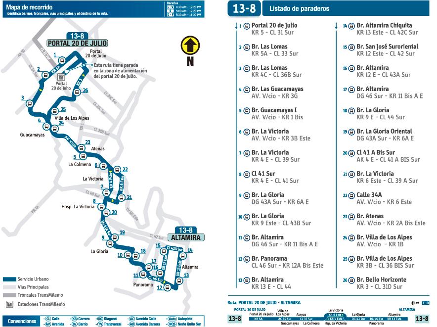 La ruta alimentadora 13-8 Altamira pasa a funcionar como ruta urbana (13-8 Portal 20 de julio Altamira)