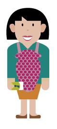 Personaje ilustrado con tarjeta sisben