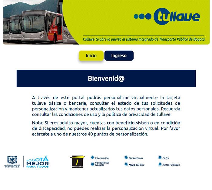 Pantalla  de Ingreso a https://fidelizacion.tullaveplus.com/