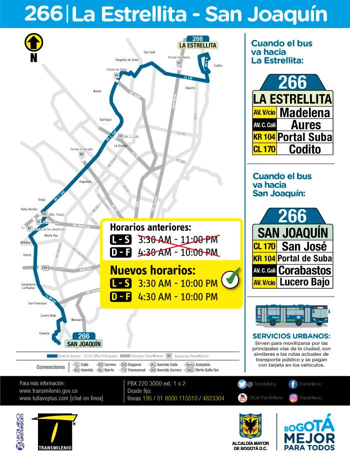 Mapa del servicio urbano 226 y su nuevo horario a partir del 12 de junio