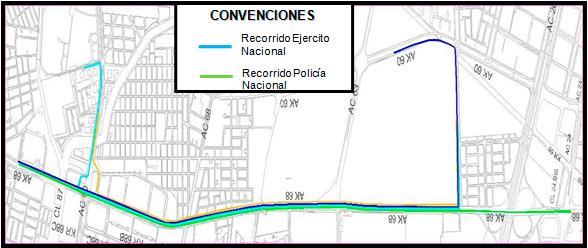 Mapa del Recorrido del desfile