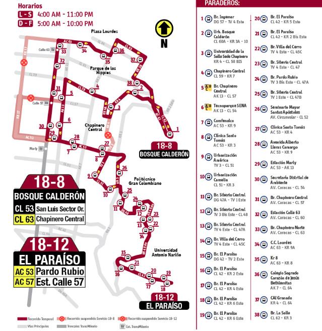 Mapa del a fusión del a ruta 18-2-18-18