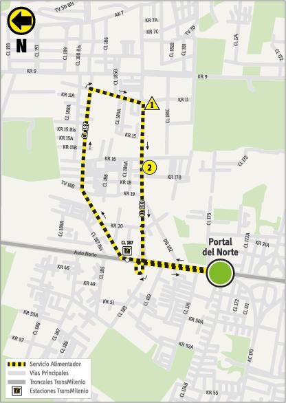 Mapa del recorrido 2-11 con la novedad