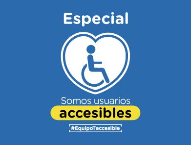 Corazón con el icono de silla de rueda -especial de accesibilidad