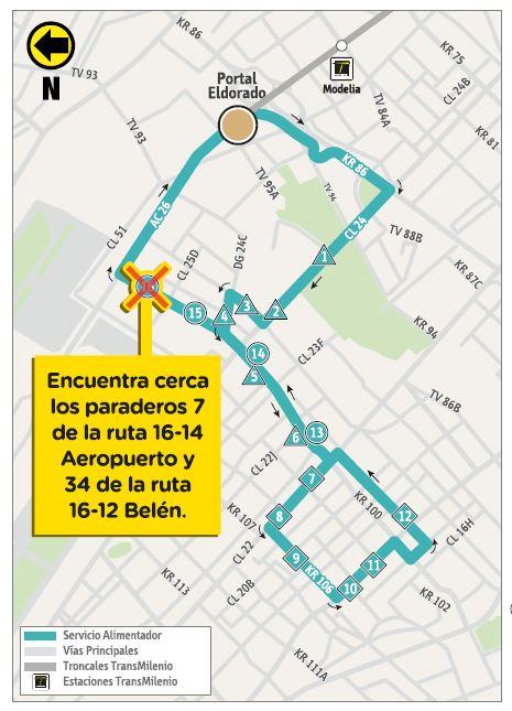 Mapa de la ruta 16-9