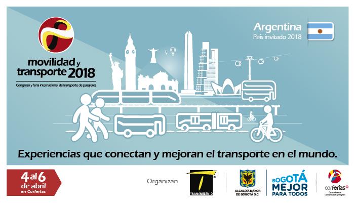 Imagen oficial de la Feria de Movilidad y Transporte  2018, pictogramas de varios monumentos del mundo.