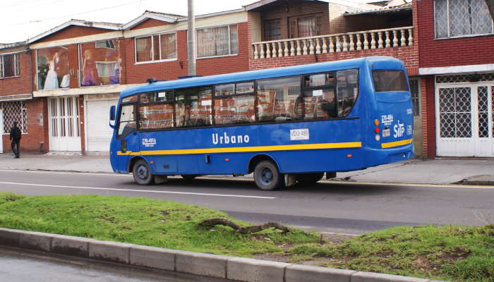 Ruta urbana por una cuadra de Bogotá