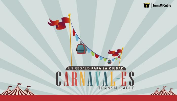 Cabinas del cable alusivas a los carnavales de TransMIcable