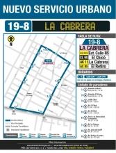 Nuevo servicio urbano 19-8 La cabrera