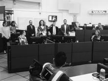 Gerente de TransMilenio hace un minuto de silencio por la la muerte de Leonardo Licht Hoyos