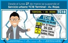 Suspensión TC18