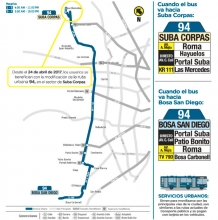 Novedad ruta urbana 94