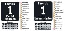 Horarios servicio 1
