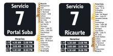 Horarios  servicio 7