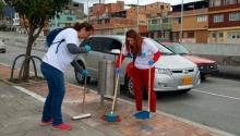 Acciones de aseo en la localidad de San Cristobal