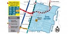 Mapa rutas zonales visita del papa