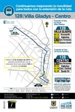Información de la ruta 128