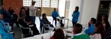 Imagen de personas participando en un foro  en Ciudad Bolívar el día 10-11-17