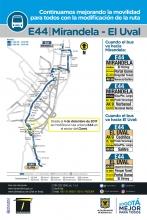 Mapa del E44 a partir del 4 de diciembre