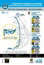 Cambios ruta 607