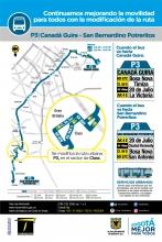 Cambios ruta P3