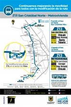 Cambios ruta Z13
