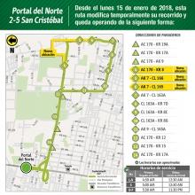 Mapa de la novedad del bus alimentador 2-5