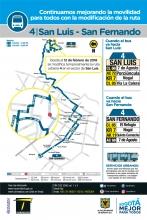 Novedad ruta urbana 4