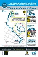 Novedad ruta urbana T06