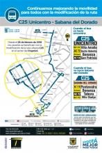 Ajuste ruta urbana C25