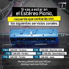 Rutas parara le evento de Estéreo Picnic 2018