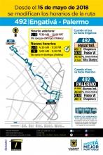 Cambio de la ruta 492