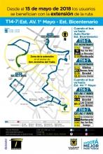 Cambio de la ruta T14-7