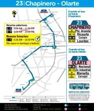 Ajuste del horario ruta 23