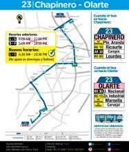 Afiche 23 cambio de horario