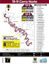 Cambio de horario ruta especial 18-9