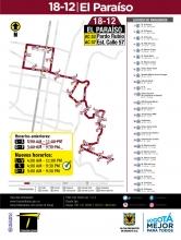 Cambio de horario ruta especial 18-12