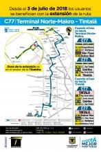 Ajuste ruta C77