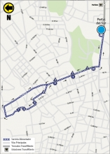 Mapa del ajuste de la ruta 10-1