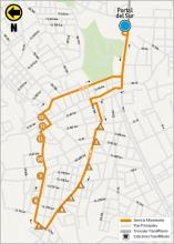Mapa del ajuste de la ruta 10-3