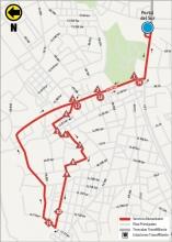 Mapa del ajuste de la ruta 10-4