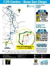 Ajustes de la ruta C29