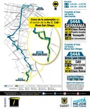 Ajustes ruta SITP 544A