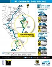 Ajustes ruta SITP 99
