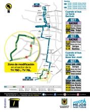 Ajustes ruta SITP 927
