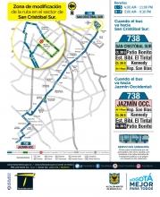 Ajustes ruta SITP 738
