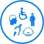 Personas discapacidad parcial