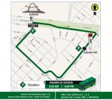 Mapa recorrido ruta Corferias